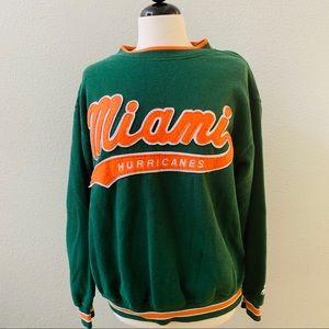 MIAMI HURRICANES vintage NFL starter sweatshirt M